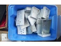 box of single and double electrical sockets, back boxes & blank plates. Many other items on gumtree