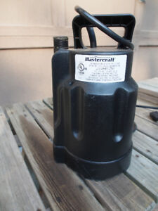 Two submersible Utility Pumps 1/6 HP and 1/4 HP