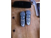 Two sky plus remote controls