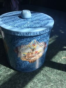 Beautiful Blue Huntley & Palmers Lithographed Tin