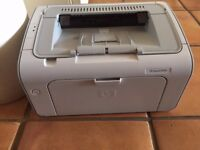 HP LaserJet P1005 monochrome laser Printer - used but in good condition