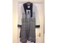 Ladies Dickens and Jones brand new navy/white striped dressing gown.