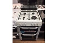 #7 New Ex-Display Belling FSG55TCF White 55cm Gas Fan Assisted Cooker £399