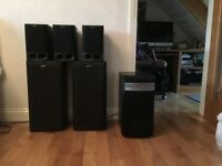 Sony Surround Sound Speakers and Pioneer Sub Woofer