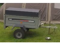 ERDE 122 Trailer with lockable wooden roof - Electric - Brilliant for camping