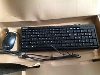 Acer USB wired PC multimedia keyboard and mouse *new* unused