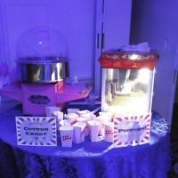 Popcorn and cotton candy machine  rentals starting at $60