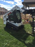 Post holes Skid steer services