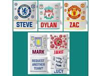Personalised football mugs