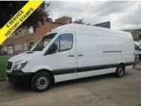 2014 14 MERCEDES-BENZ SPRINTER 2.1 313CDI LWB HIGH ROOF 129 BHP. FSH. 1 OWNER. F