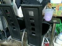 Glass dining table 4 chairs