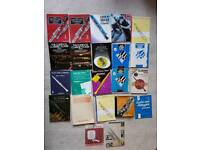 21 clarinet music books and 1 for trumpet