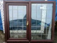 Rose Wood Window UPVC