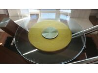 Used large clear tempared glass ,rotating turntable lazy susan