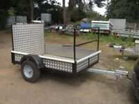 TRAILER 6X4 GOODS / TRANSPORTER WITH FULL RAMP-TAIL ETC..