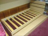 ARGOS - single bed with underbed storage barely used