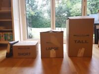 House Packing Removal Boxes - Used Once, Perfect For 2/3 Bedroom House