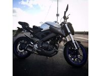 Low Mileage Yamaha MT-125 with extras