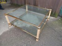 Large Glass Topped Coffee Table Delivery available