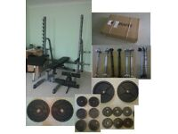 Gym equipment - see details for all items/prices - includes commercial, olympic and standard stuff