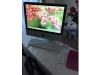 iMac 20 inch with keyboard and wireless mouse