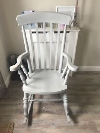 Solid pine rocking chair painted in Grey