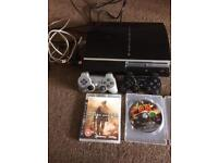 PS3 160gb with 2 controllers and games