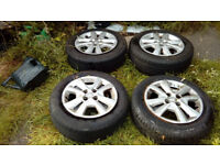 set of 4 (steel) wheels with tyres (vauxhall corsa e)