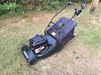 Hatter 48 petrol lawn mower with roller & drive