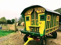 Beautiful Gypsy Wagon, Bowtop, Shepherd's Hut, Garden Office