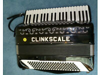 Italian hand-made piano accordion. 41 keys, 120 bass. 4 voices double-cassotto