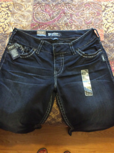 Silver Suki Jeans (newer worn, tags attached)
