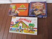 2 Vintage Board Games & a Vintage Merit Hillbilly The Climbing Choo Choo Toy Train Set