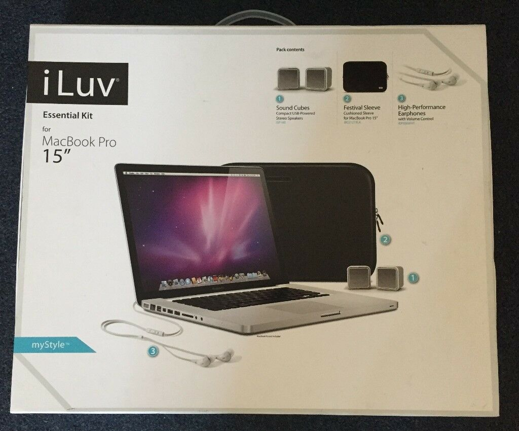 iLuv Essential Kit for 15 Inch MacBook Pro NEW NEVER USEDin Redbridge, LondonGumtree - iLuv Essential Kit for 13 Inch MacBook Pro new never used collection from IG1 4JZ
