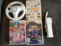 Wii games and controllers