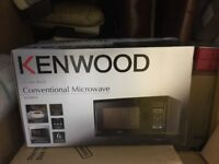 Kenwood conventional microwave oven black barely used
