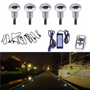 5pcs LED deck stairs garden pathway marine dock light kit