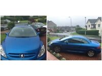 Peugeot 307 cc with full year MOT