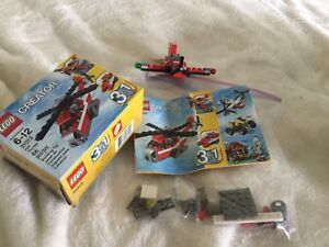 Lego creator 31013  building toy rescue plane helicopter
