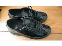 Dr MARTENS patent shoes NEW
