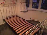 Single Cream Metal Bed By The Iron Bed Company