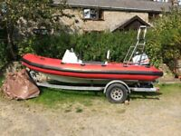 RIB 5.3m 90hp mariner 2003 top condition engine lovely boat solid trailer....* MDC90 on youtube*