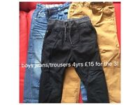 Boys trouser/jeans various sizes which are stated on pics along with prices
