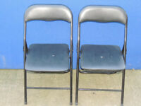 2 chairs Black foldable Minor wear (Delivery)