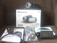 Panasonic Model HC-V100 HD Video Camera Boxed like new