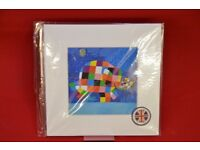 Art You Grew Up With Elmer Finds Teddy Art Print Kids £9.99