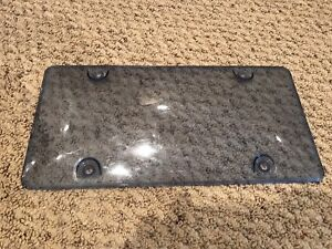 Blue License Plate Cover