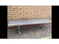 Stainless steel garden bench