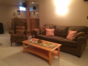 Couch, Recliner & Coffee Table & End Table