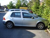 VOLKSWAGEN GOLF 2003 ON A 52 PLATE